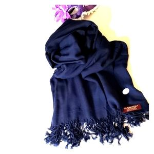 Pashmina New 100% Cashmere Blue Scarf Wrap